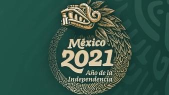 Quetzalcóatl, imagen oficial de las conmemoraciones de 2021