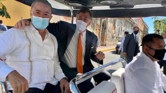 El embajador de EU, Christopher Landau estuvo en Sinaloa con el gobernador Quirino Ordaz