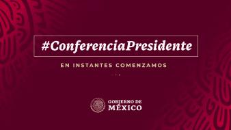 Sigue la conferencia de AMLO desde el Palacio Nacional