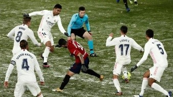 El sublíder de la Liga Española empató en la nieve contra el penúltimo lugar.
