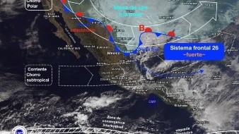 El Frente Frío número 26 causará nevadas o heladas en zonas altas de México