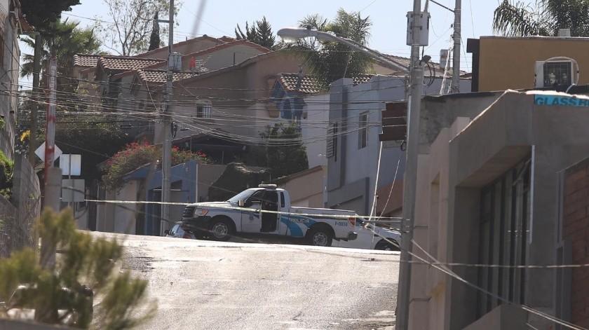La agresión ocurrió en la calle Colina del Capistrano.(Gustavo Suárez)