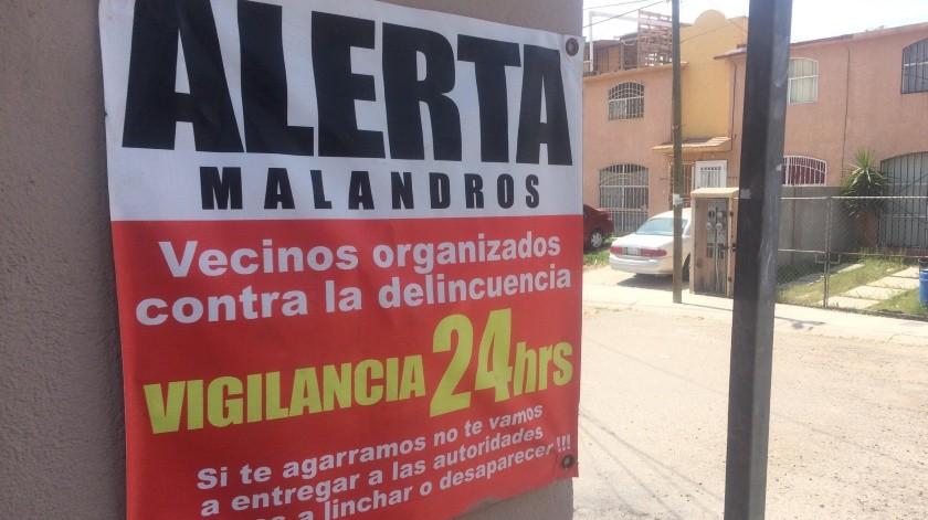 Los residentes implementaron las medidas de vigilancia por la ausencia de las autoridades.(Banco Digital)