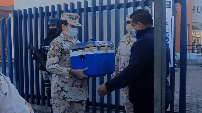 Llegan vacunas al Hospital General de Mexicali