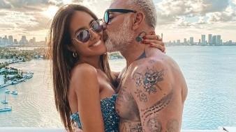 Gianluca Vacchi y su esposa, la latina, Sharon Fonseca, recrean divertidas escenas de la serie mexicana