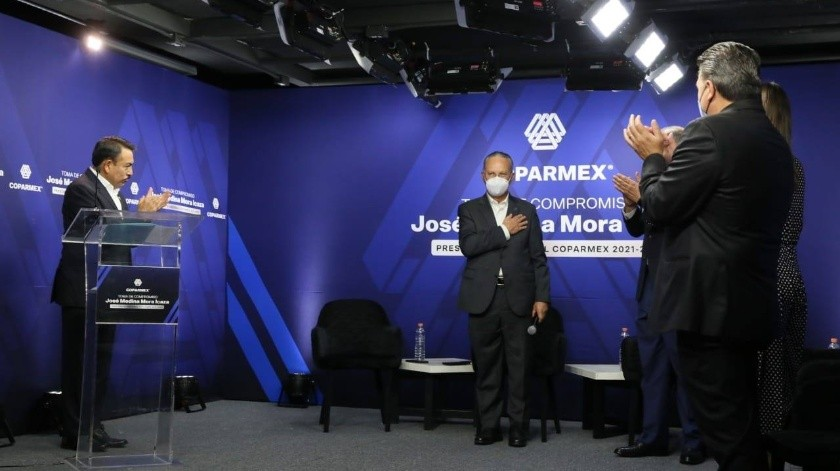Toma de protesta de José Medina Mora, como presidente de Coparmex(FB oficial Medina Mora)