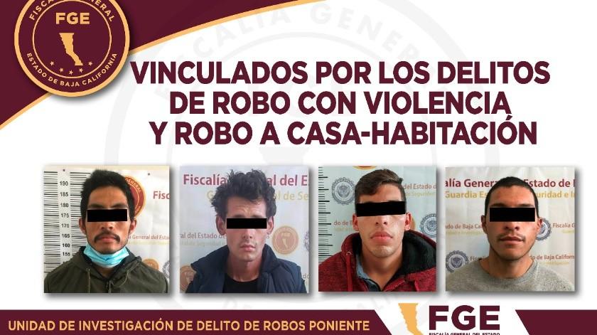 Cuatro acusados de robo a prisión