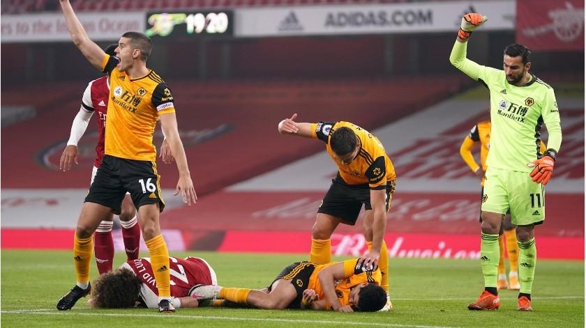 Wolverhampton solo ha ganado un juego en Premier League desde la lesión de Raúl Jiménez.(AP)