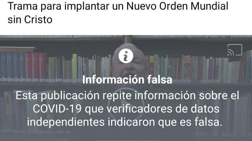 Facebook bloquea la cuenta del Cardenal Juan Sandoval(Especial)