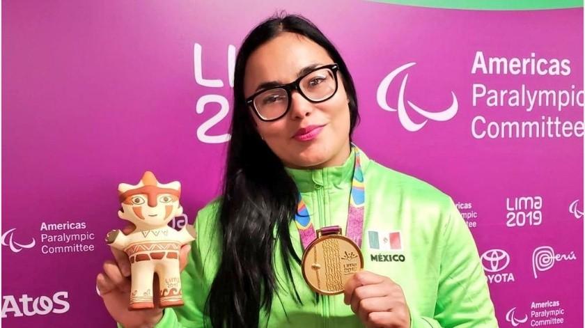 Rebeca Valenzuela va por su tercera participación paralímpica.(Cortesía)