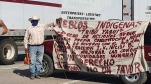 Reanudan bloqueo: Se instalan Yaquis en la carretera ¡otra vez!