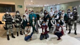 Concluye vacunación de personal del IMSS