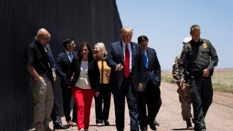 En la búsqueda de la reelección, Trump insistió constantemente en que el muro en la frontera con México avanzaba rápidamente y en que la factura estaba del lado mexicano.