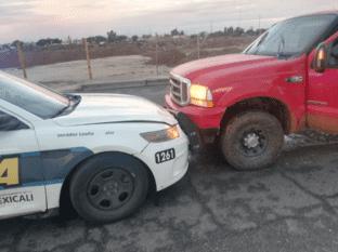 Persecución por auto robado al oriente de Mexicali