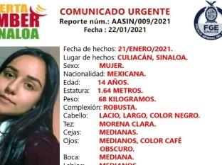 Alerta Ámber: Ana Sofía, de 14 años, fue a visitar a una amiga y no volvió