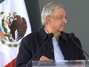 Andrés Manuel López Obrador, presidente de México enevento San Luis Potosí.