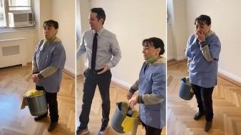 Vecinos organizan grata sorpresa para una empleada de limpieza