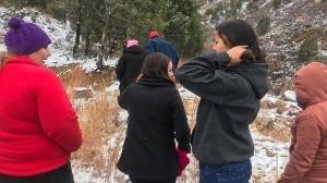 ¡Frío en Sonora! Tupida nevada cae sobre Nogales