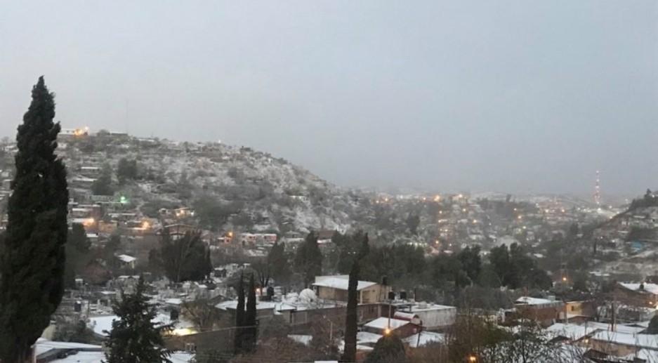 Imágenes de la nevada en la región Norte de Sonora (Nogales).