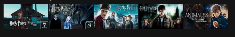Las películas de la saga disponibles en Netflix.