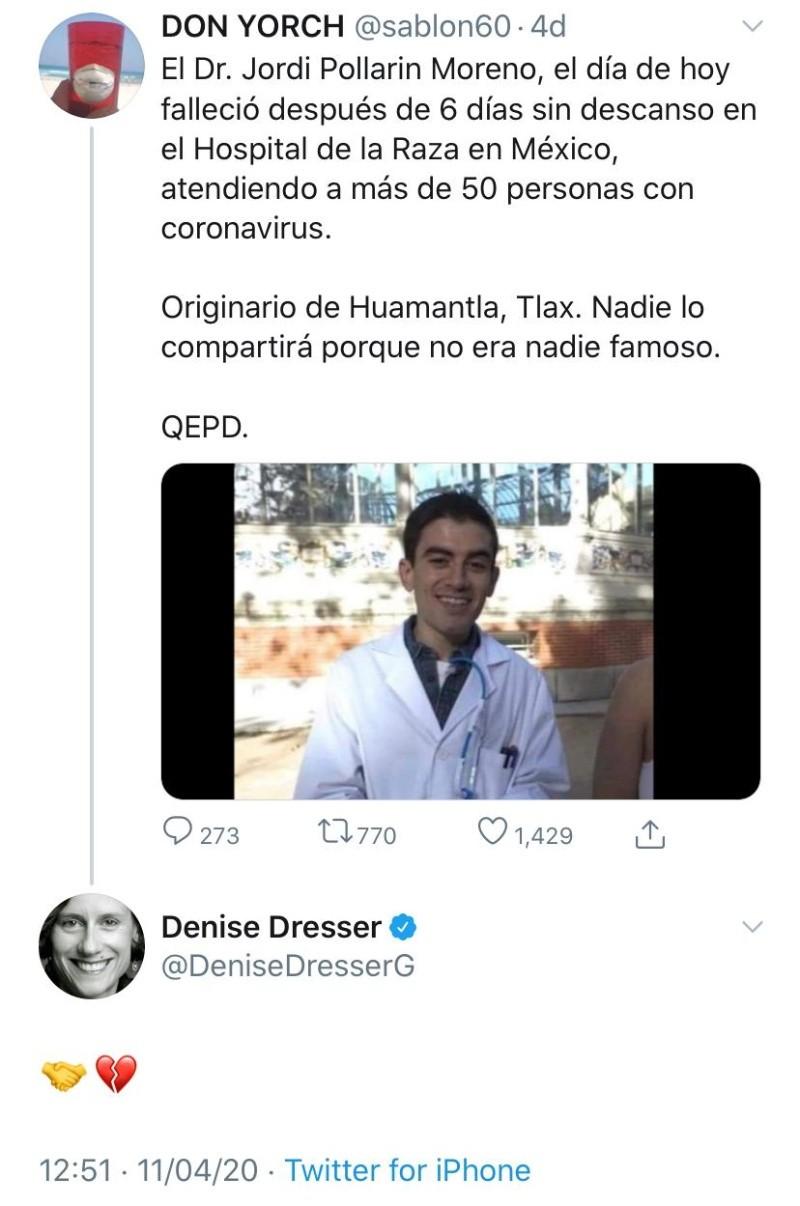 Actor Porno Famoso Español denise dresser confunde a actor porno con médico, era fake