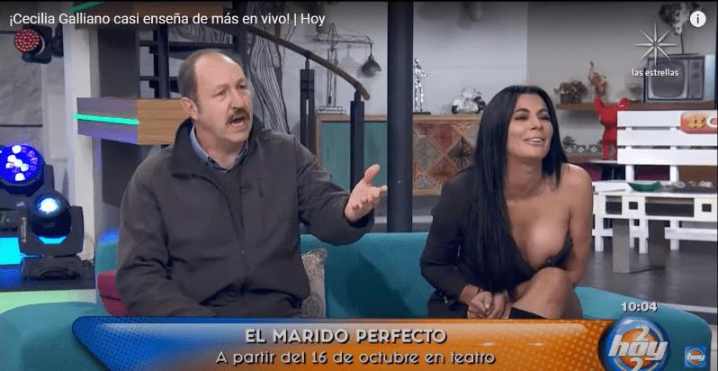 """Se me está saliendo una!"""": A Cecilia Galiano la traicionó su vestido en """"Hoy""""   EL IMPARCIAL   Noticias de México y el mundo"""